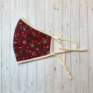 Red Floral Cloth Face Mask (NEW)